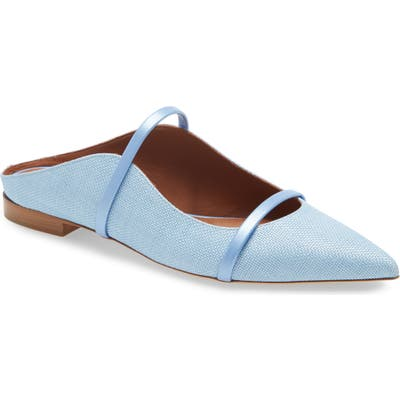 Malone Souliers Maureen Pointed Toe Flat - Blue
