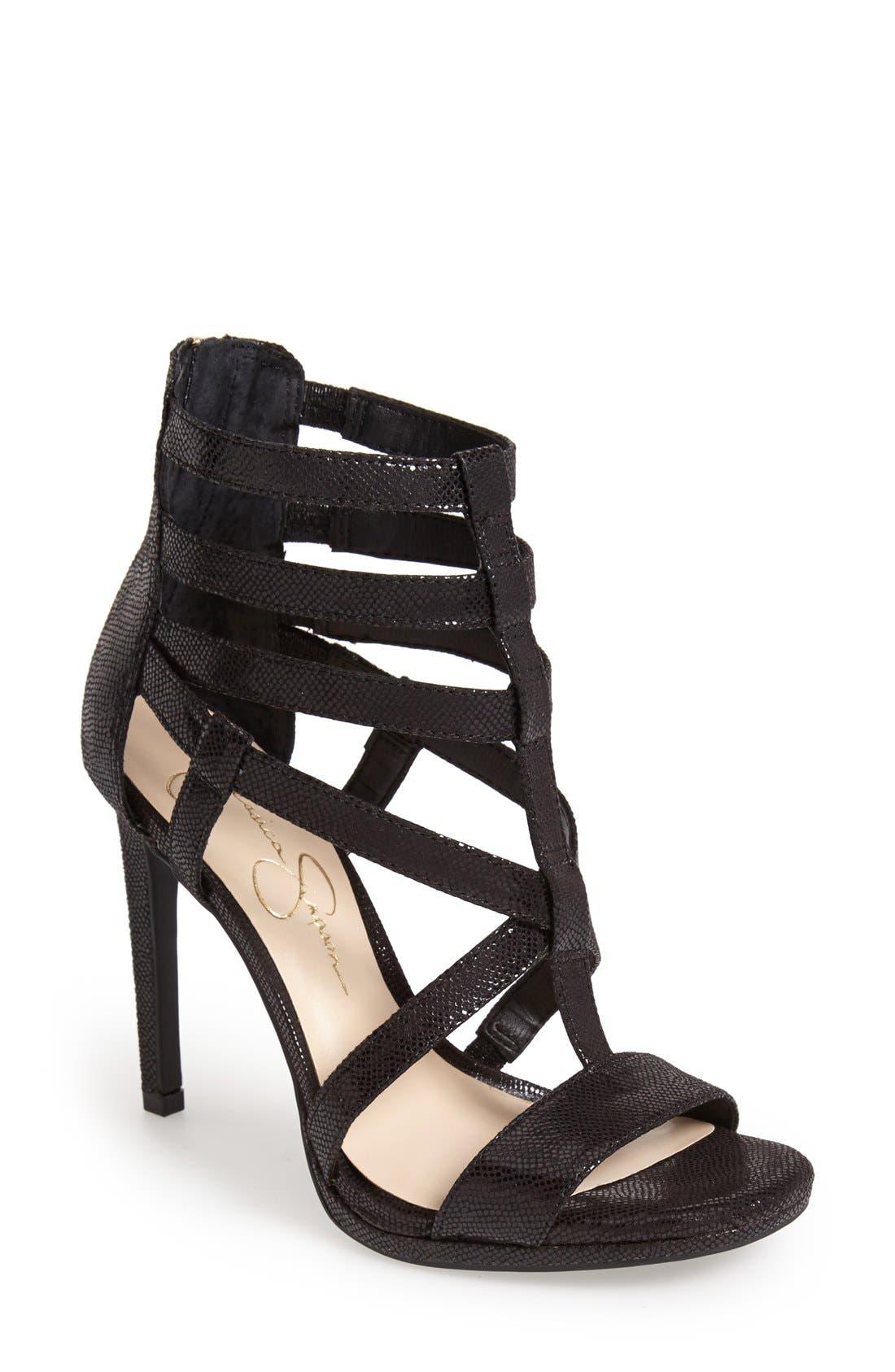 'Marthena' Sandal, Main, color, 001