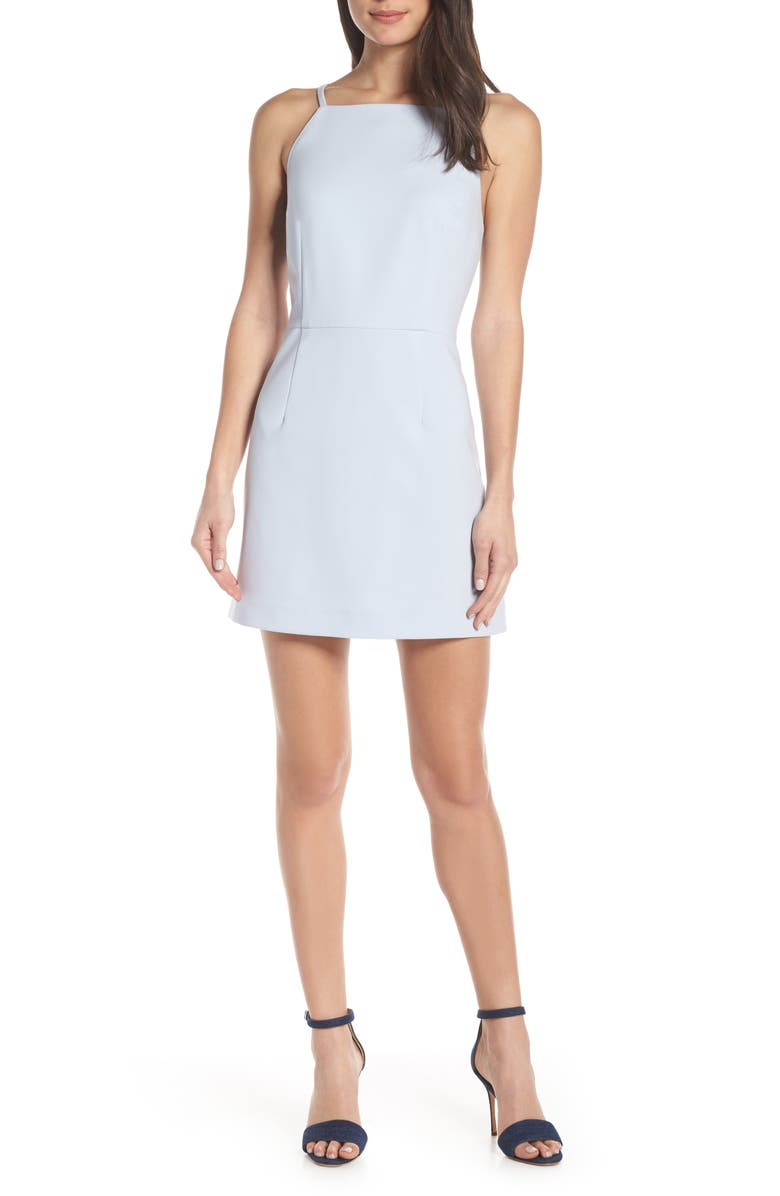 FRENCH CONNECTION Whisper Light Sheath Minidress, Main, color, SALTWATER