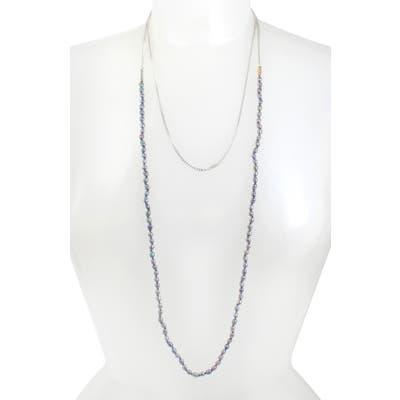 Allsaints Long Pearl & Chain Necklace