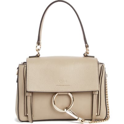 Chloe Mini Faye Day Leather Crossbody Bag - Grey
