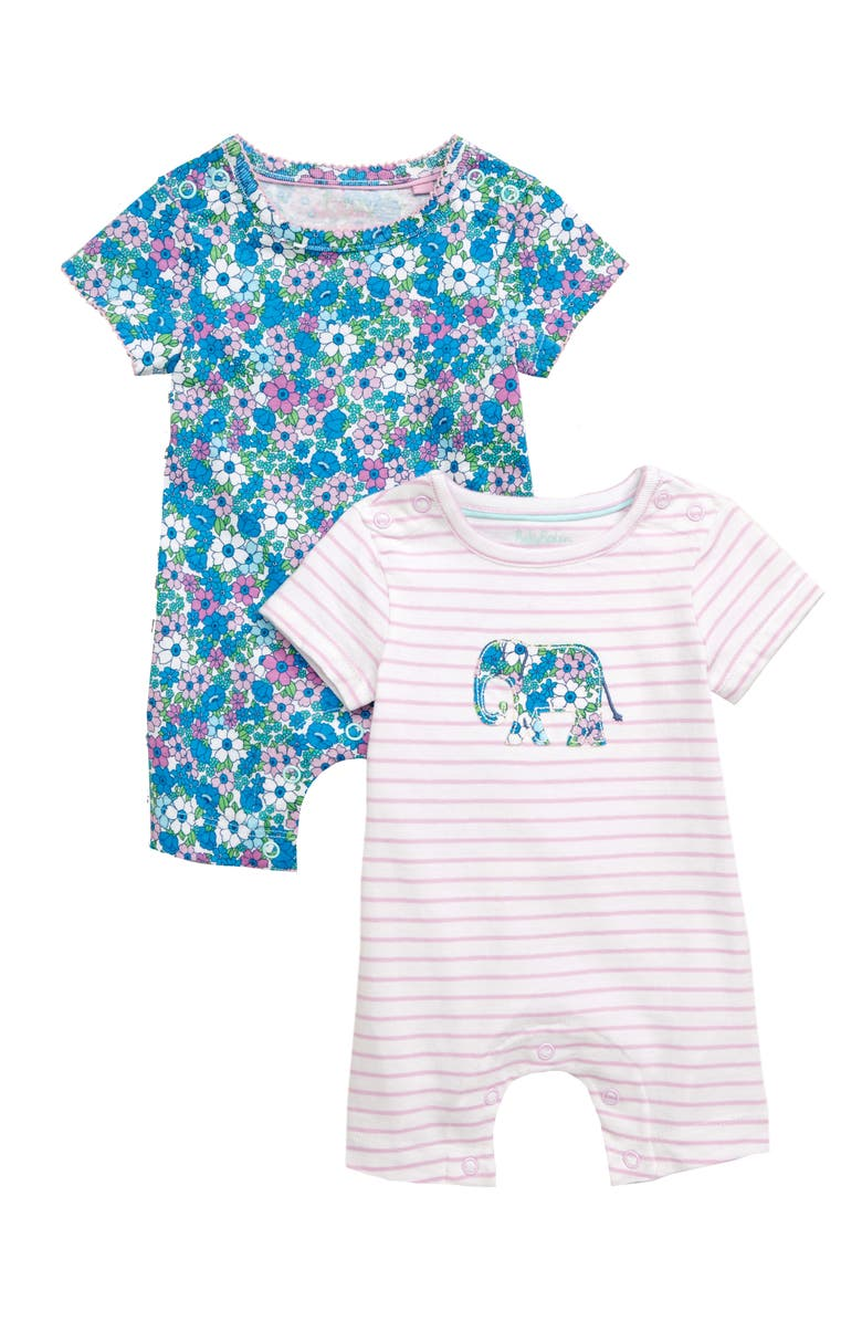 Mini Boden Floral 2 Pack Rompers Baby
