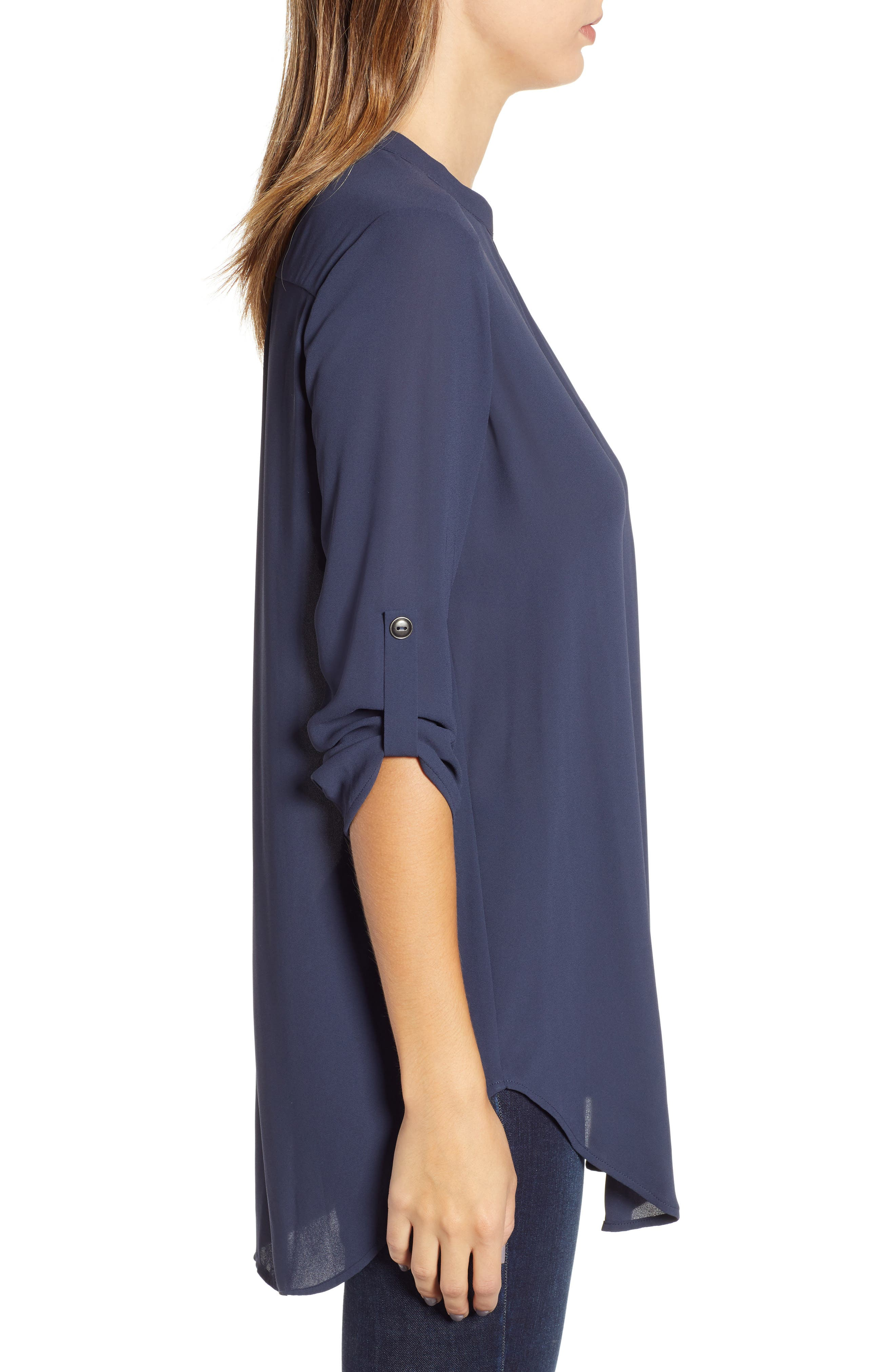 ,                             Perfect Roll Tab Sleeve Tunic,                             Alternate thumbnail 83, color,                             411