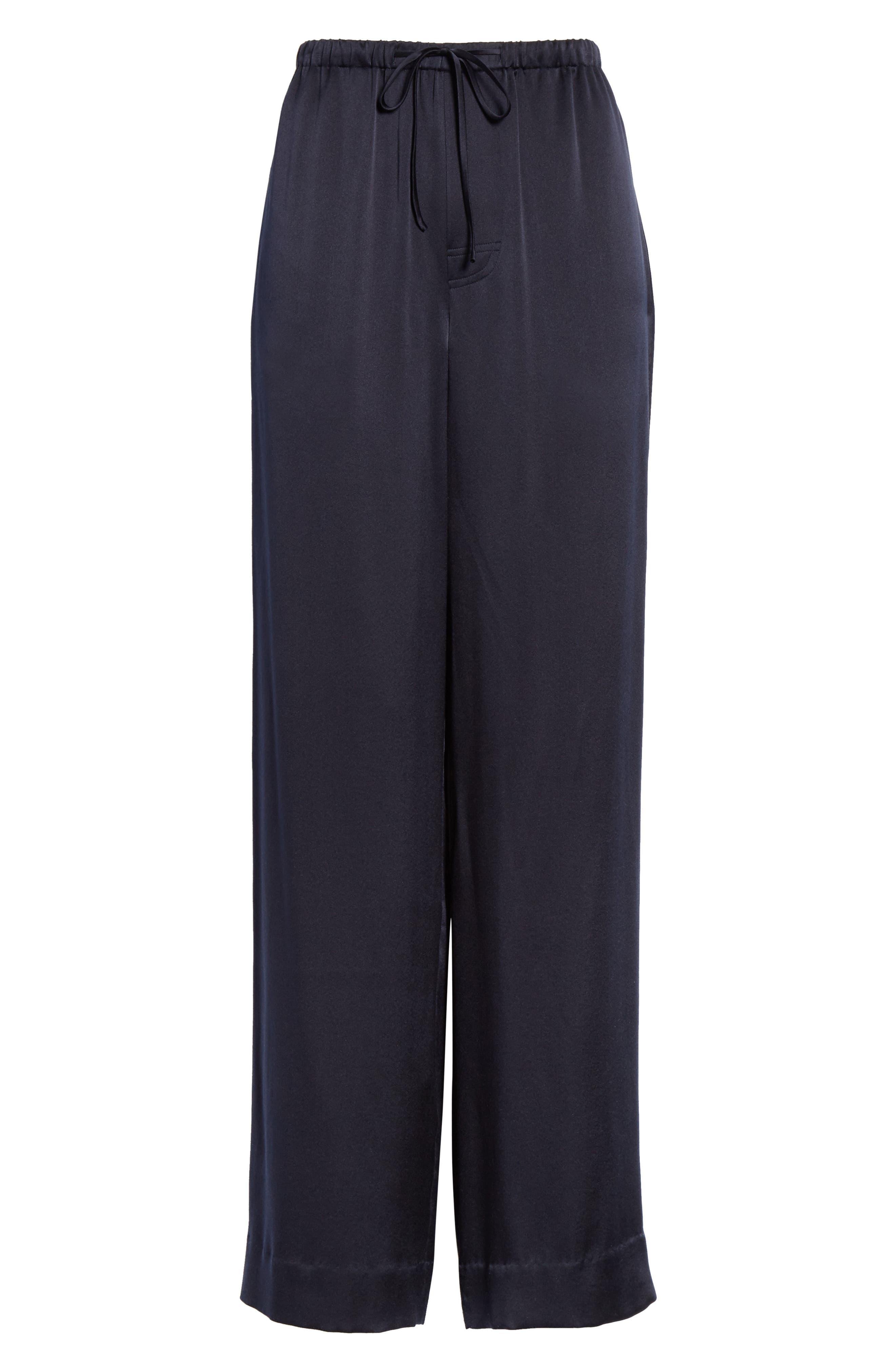 ,                             Silk Pajama Pants,                             Alternate thumbnail 7, color,                             COASTAL