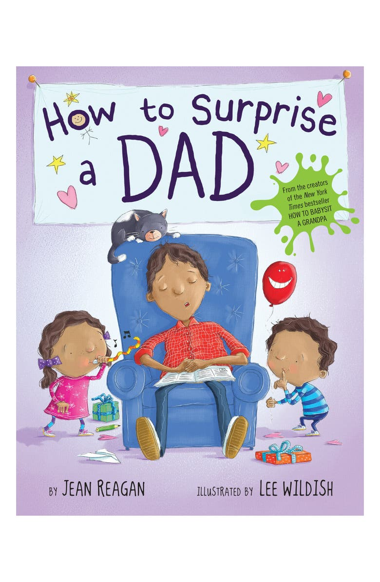 PENGUIN RANDOM HOUSE 'How to Surprise a Dad' Book, Main, color, BRIGHT BLUE
