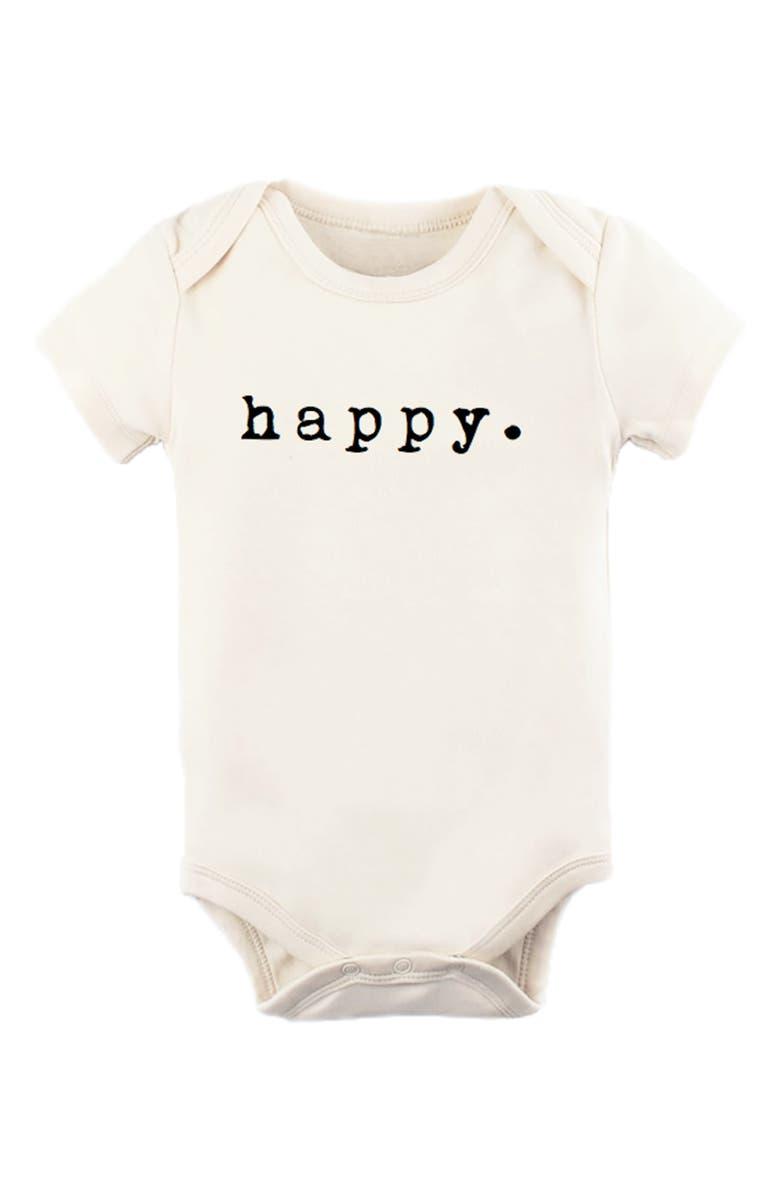 TENTH & PINE Happy Organic Cotton Bodysuit, Main, color, NATURAL