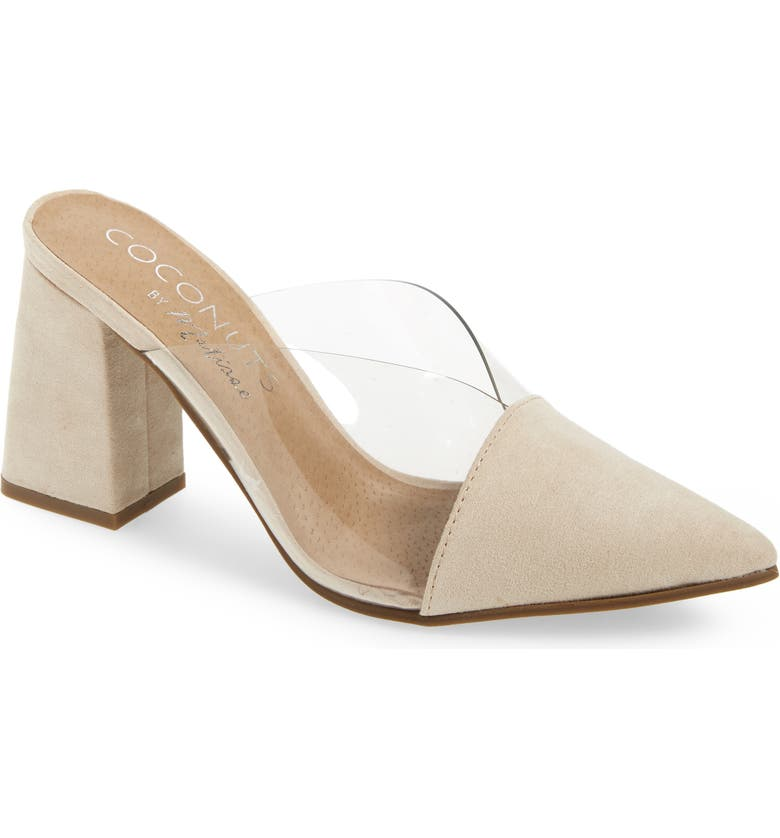 COCONUTS BY MATISSE Shauna Translucent Mule, Main, color, NUDE