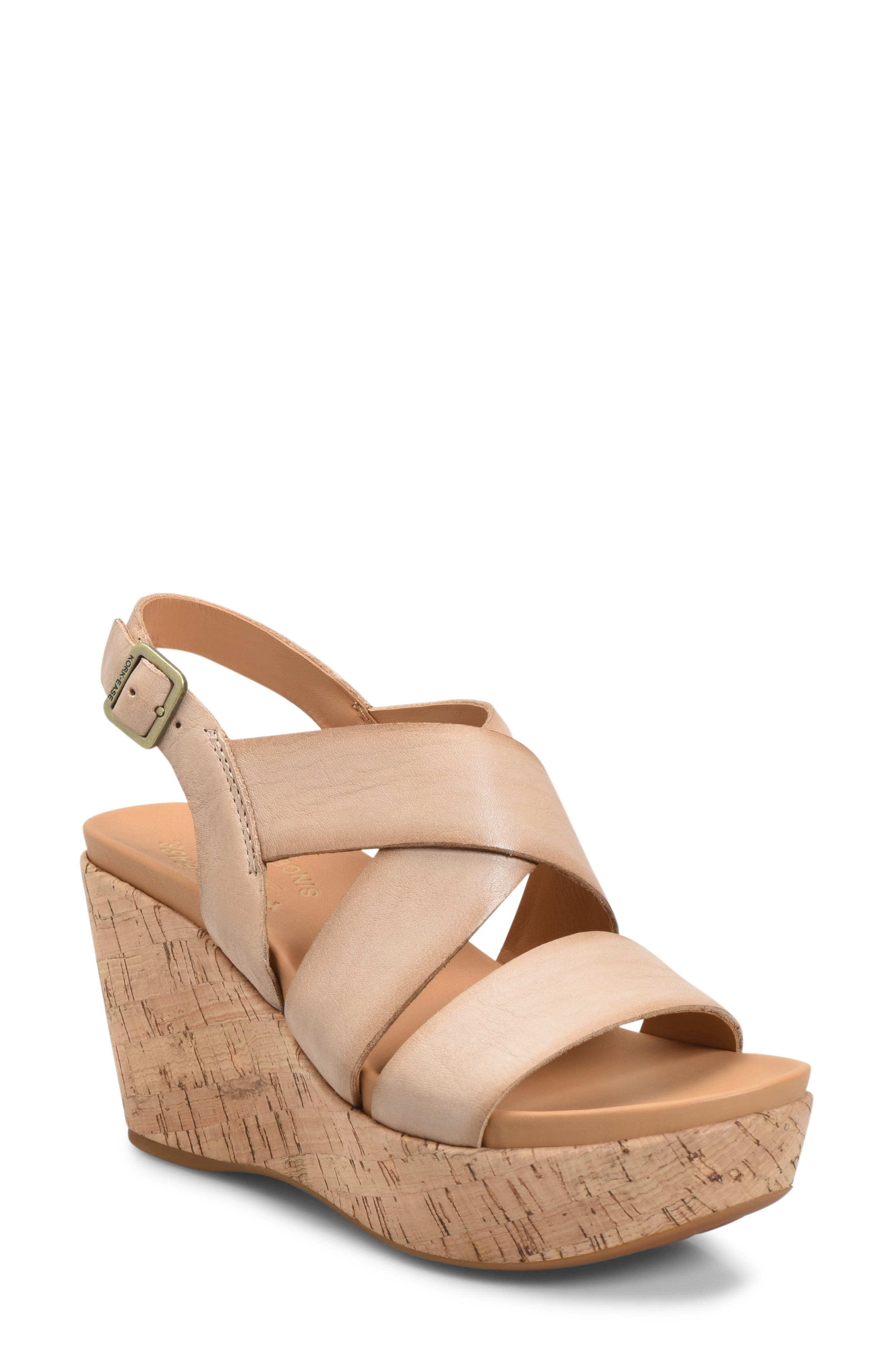Ashcroft Wedge Sandal, Main, color, NATURAL LEATHER