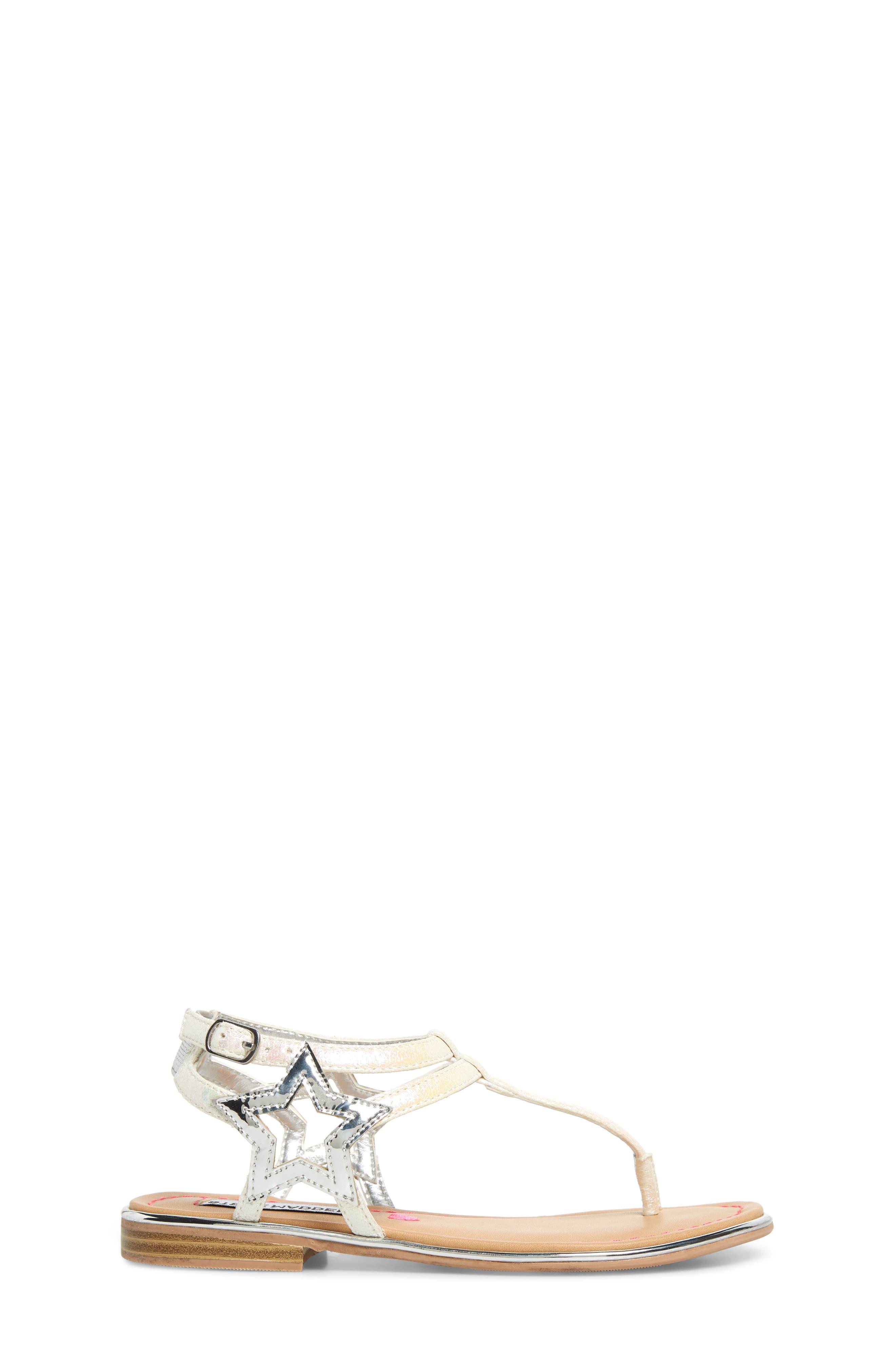 ,                             JSTRDUST Metallic Star Sandal,                             Alternate thumbnail 3, color,                             IRIDESCENT WHITE