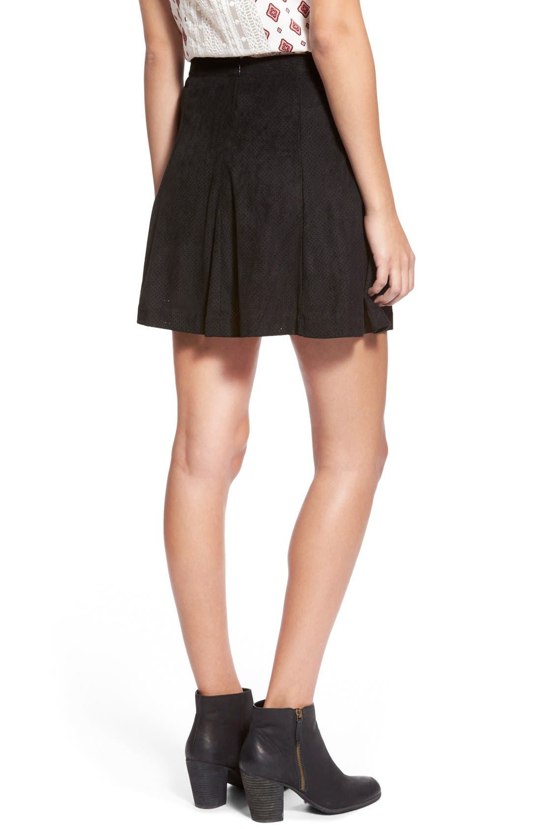 ,                             Button Front Skirt,                             Alternate thumbnail 4, color,                             015