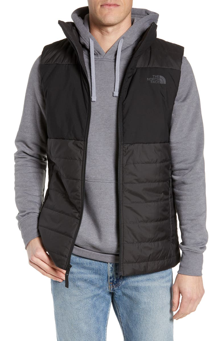 THE NORTH FACE Insulated Quilted Vest, Main, color, TNF BLACK