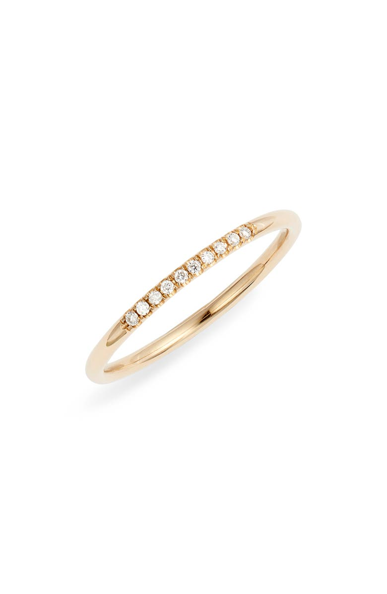 ZOË CHICCO Diamond Band Ring, Main, color, YELLOW GOLD/ DIAMOND