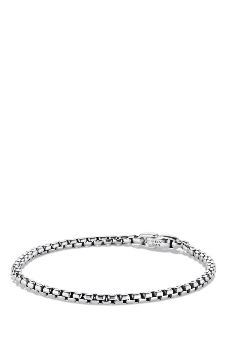 DAVID YURMAN Medium Box Chain Bracelet, Main, color, SILVER