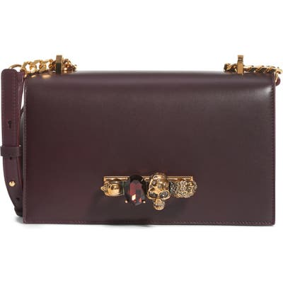 Alexander Mcqueen Leather Crossbody Bag - Purple