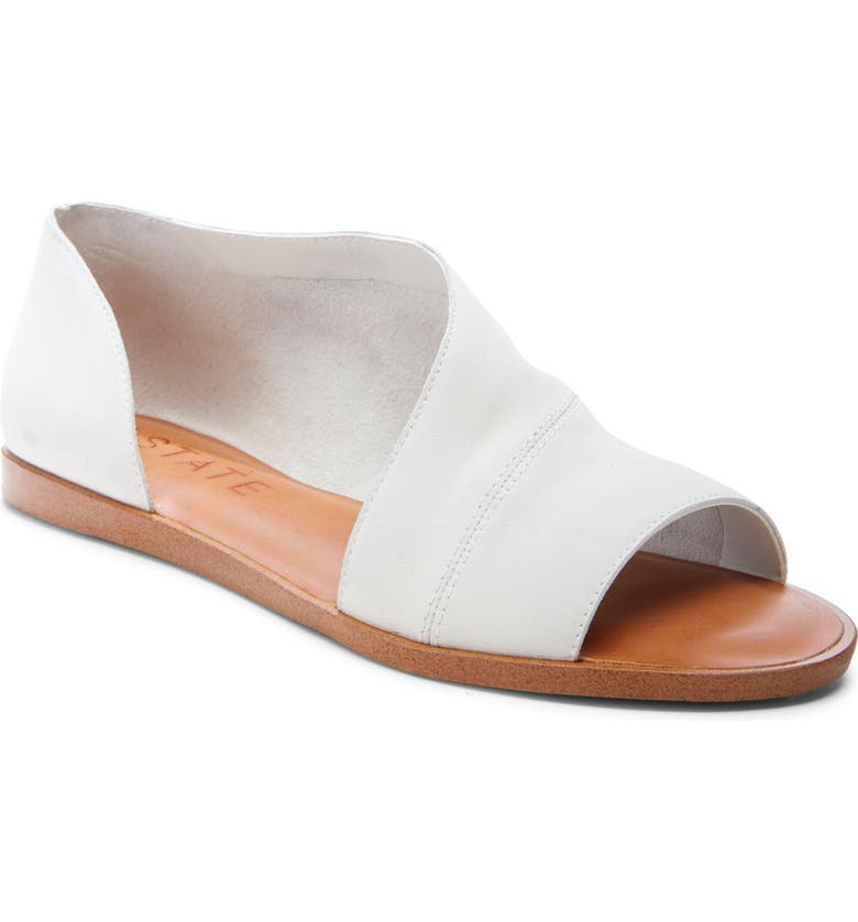 1.STATE Celvin Sandal, Main, color, WHITE NUBUCK LEATHER