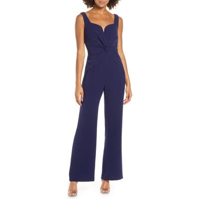 Harlyn Twist Front Sleeveless Jumpsuit, Blue
