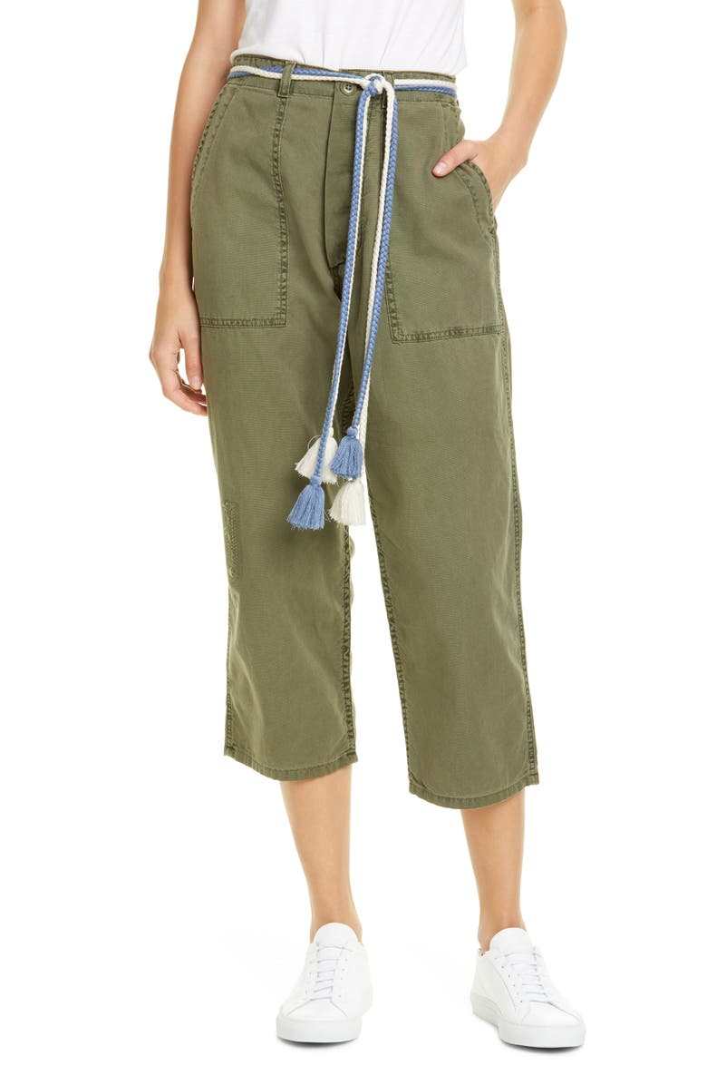 THE GREAT. The Vintage Army Pants, Main, color, ARMY