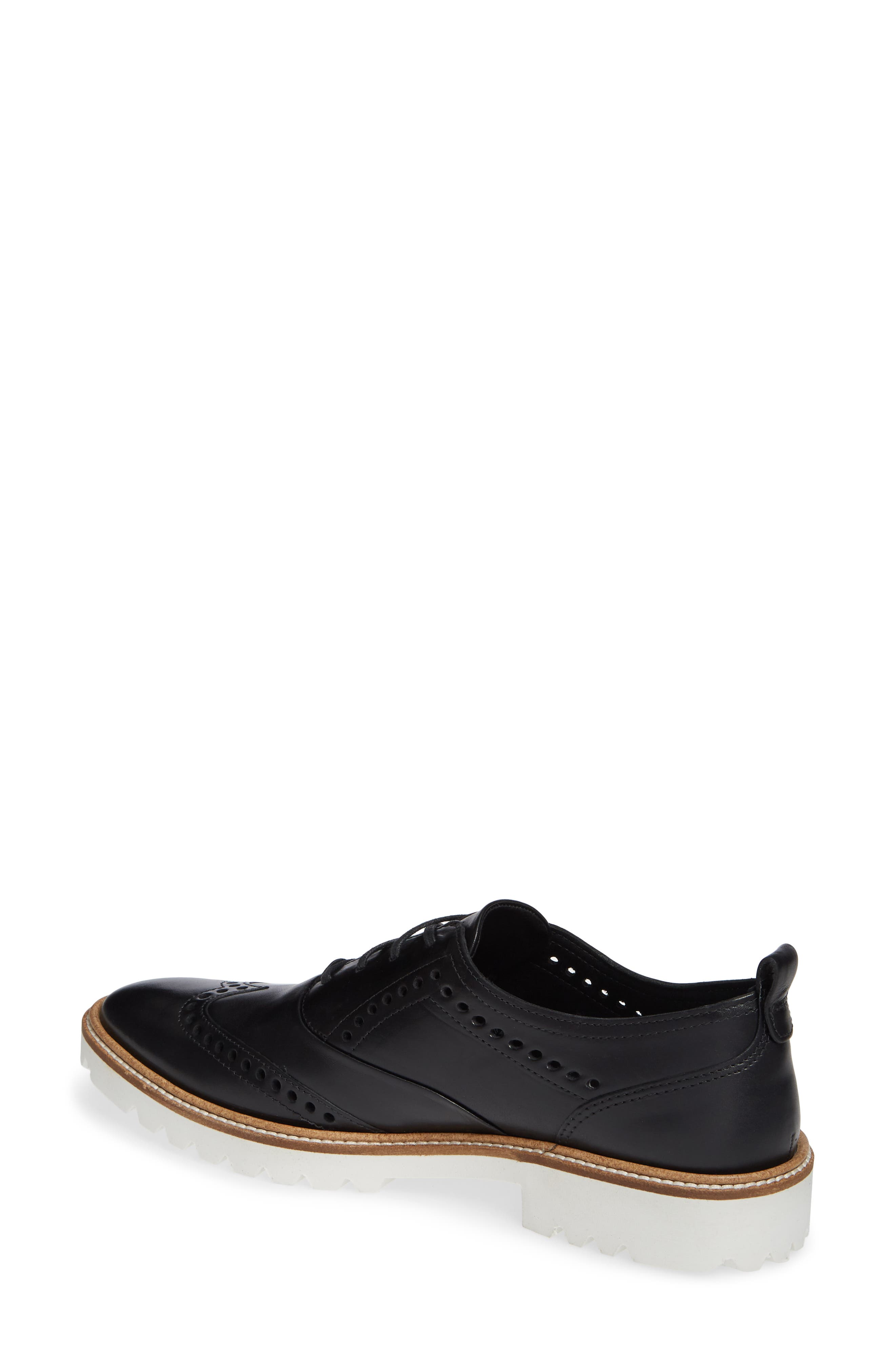 ,                             Incise Tailored Wingtip Oxford,                             Alternate thumbnail 2, color,                             BLACK LEATHER