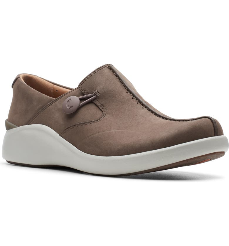 CLARKS<SUP>®</SUP> Un Loop Walk 2 Slip-On, Main, color, TAUPE NUBUCK