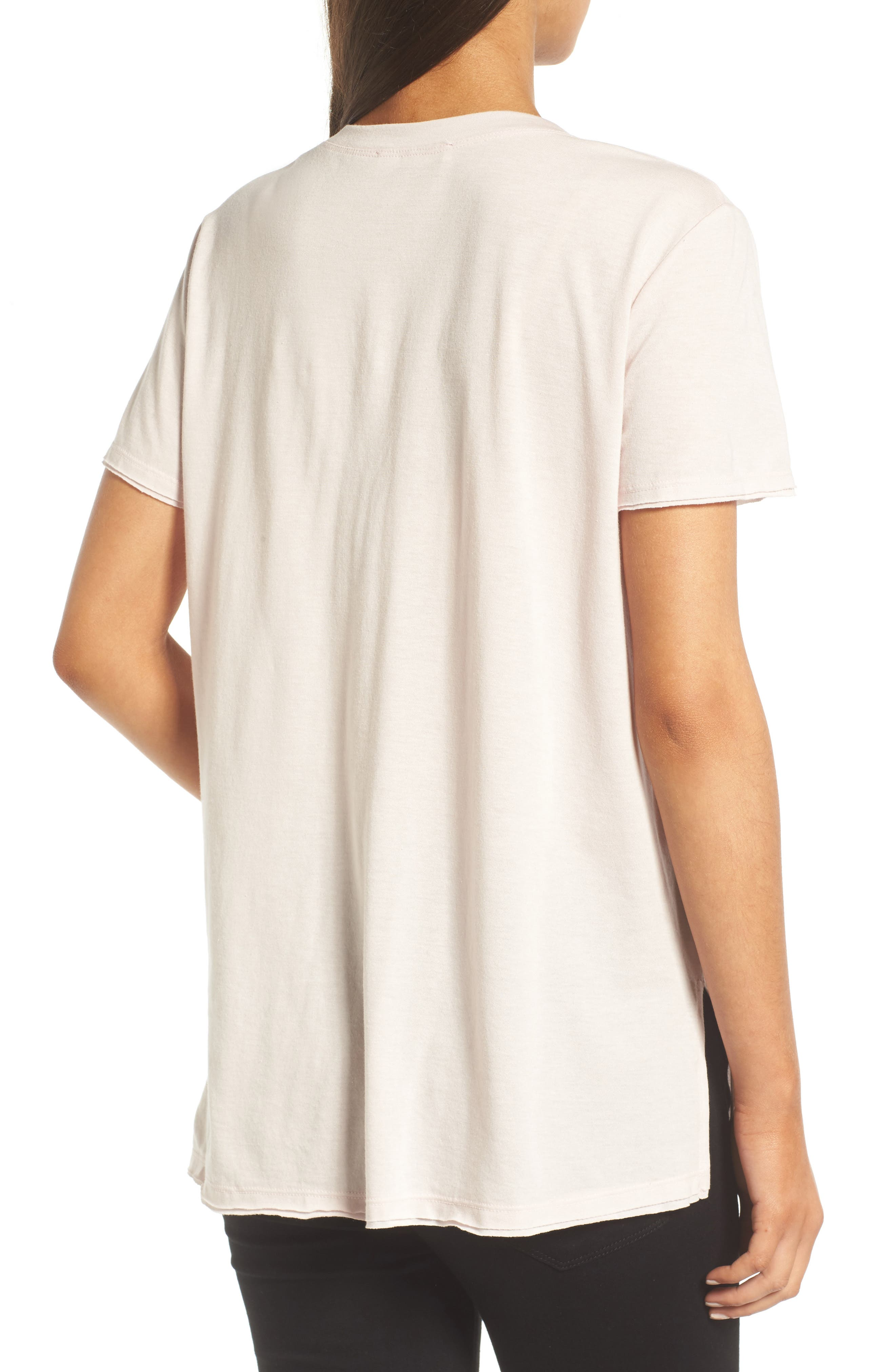 ,                             Raw Edge Side Slit Tee,                             Alternate thumbnail 14, color,                             680