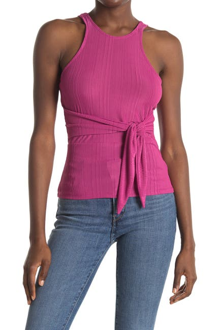 Image of NSR Laura Tie Front Knit Top