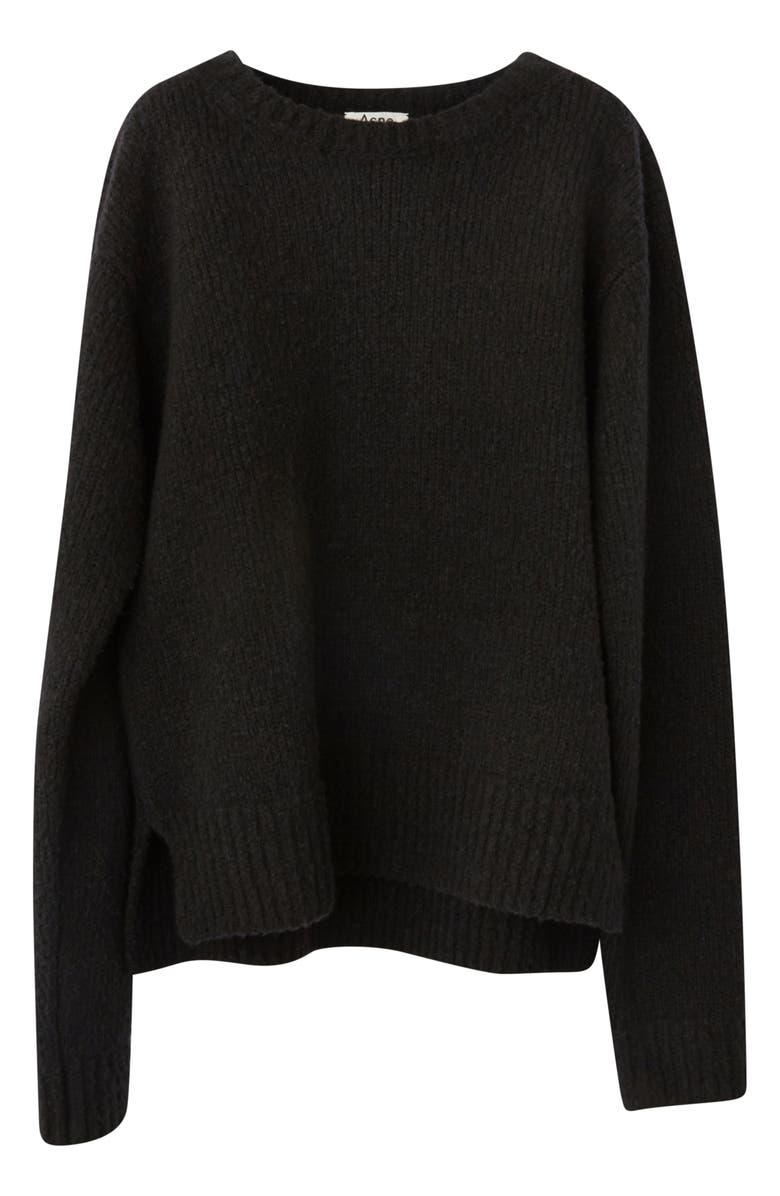 ACNE STUDIOS Kiany Wool & Cashmere Blend Sweater, Main, color, BLACK