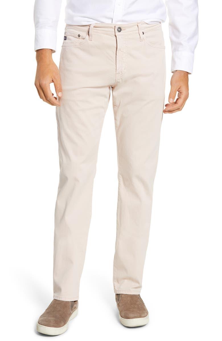 AG Everett SUD Slim Straight Fit Pants, Main, color, PEAKED PINK