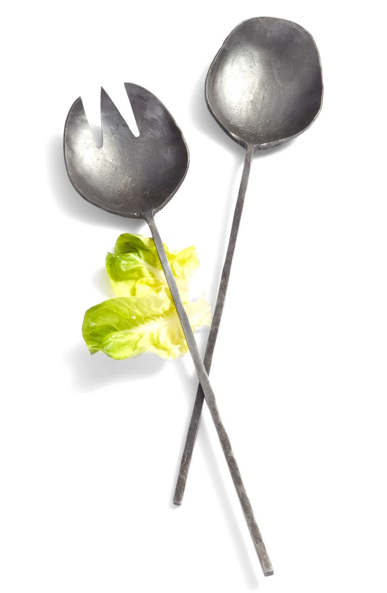 TREASURE & BOND Forged Iron Salad Servers, Main, color, 001
