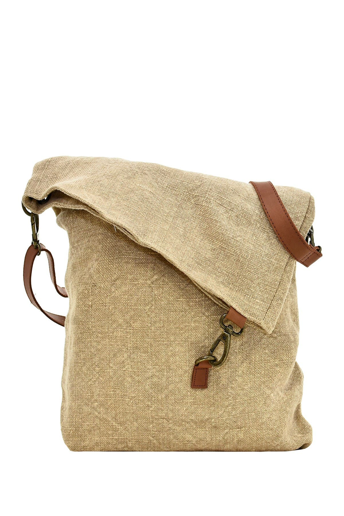 Image of Vintage Addiction Foldover Jute Crossbody Bag