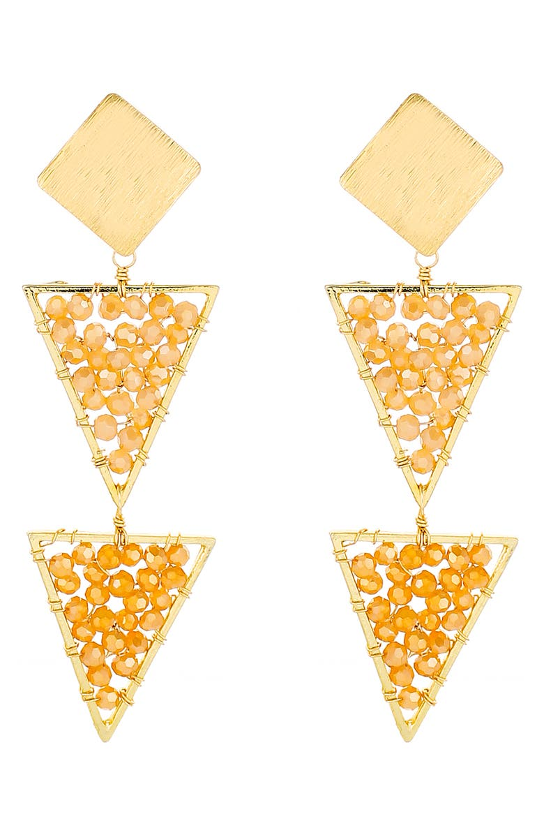 PANACEA Linear Triangle Drop Earrings, Main, color, 710