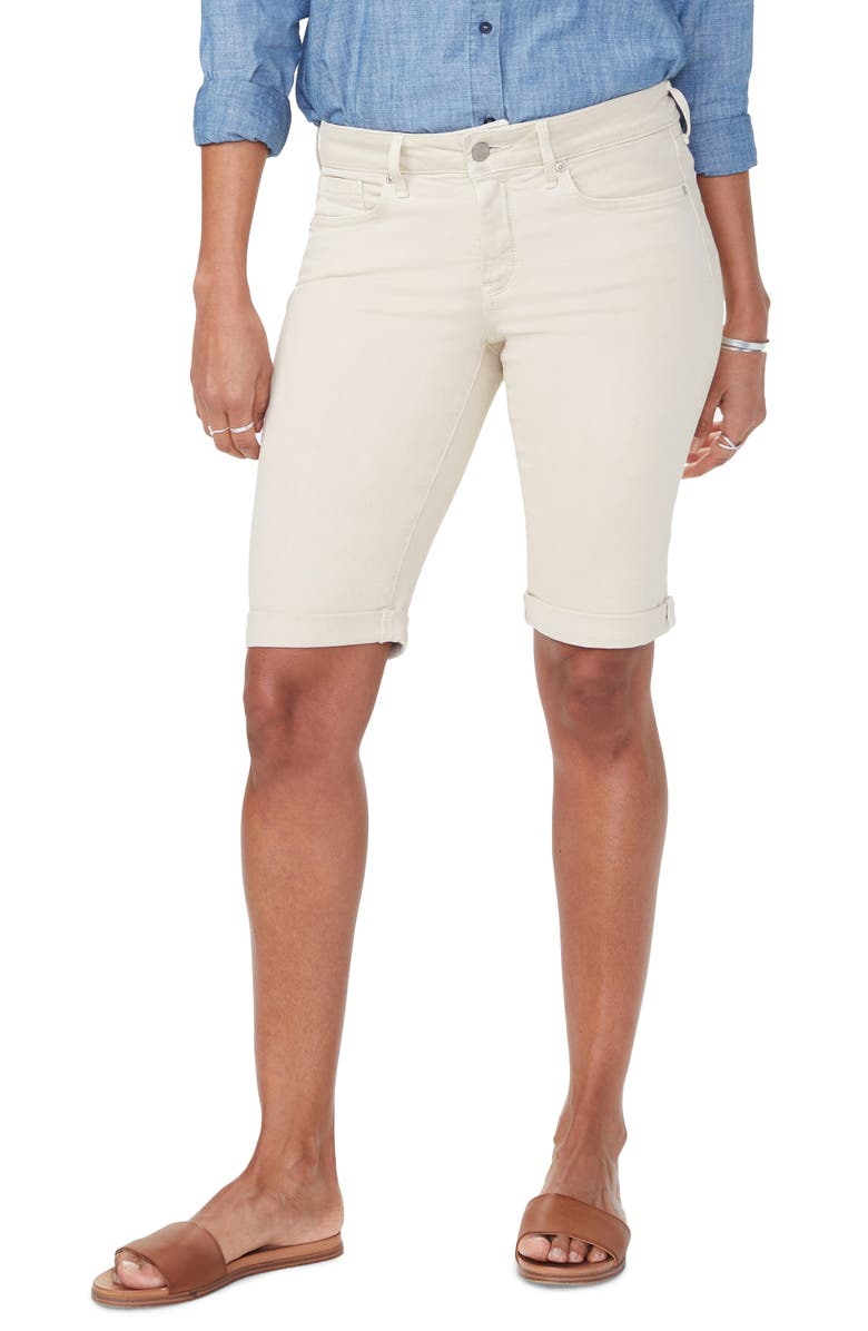 NYDJ Briella Roll Cuff Shorts, Main, color, FEATHER