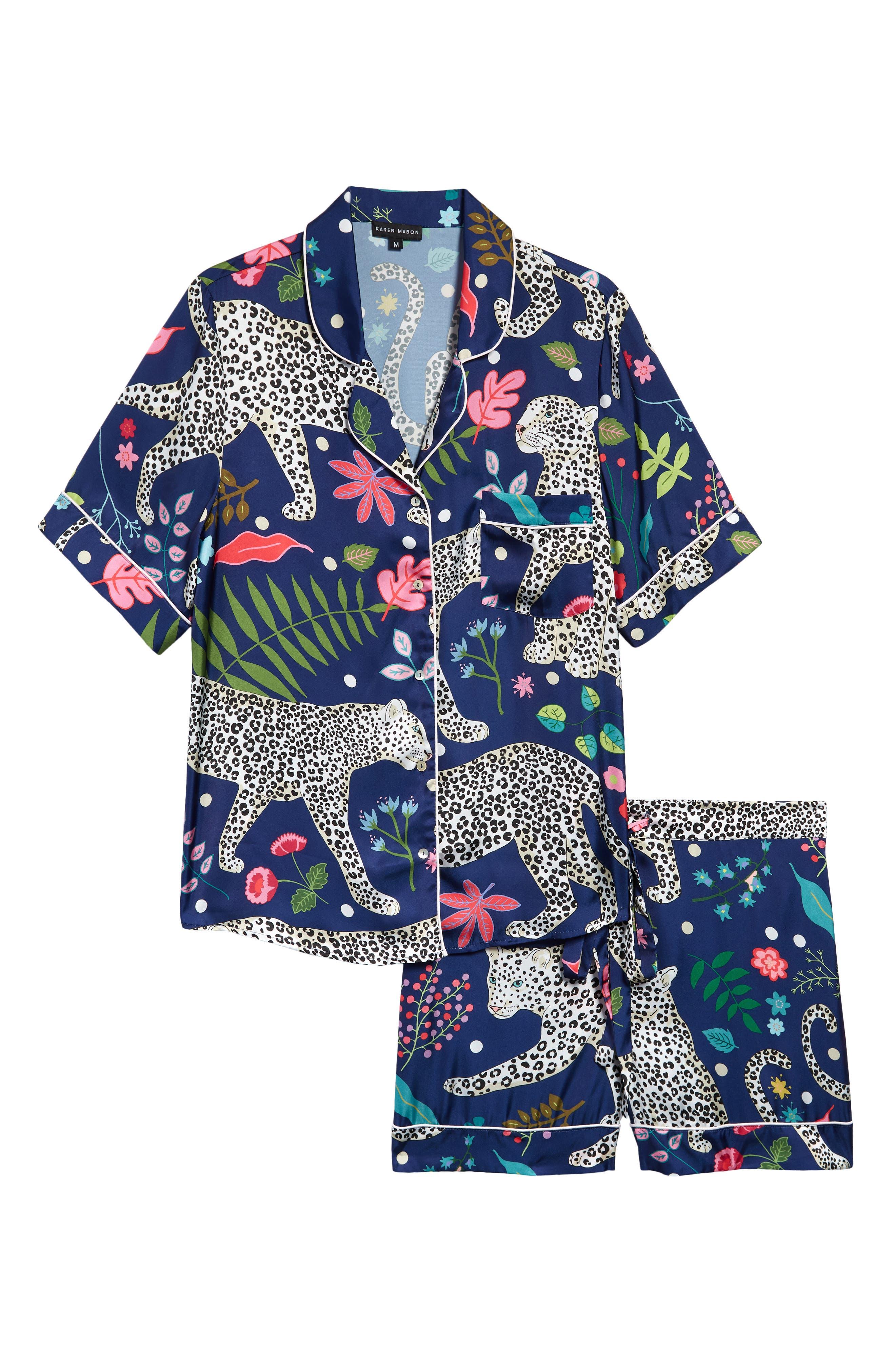 Snow Leopard Short Pajamas