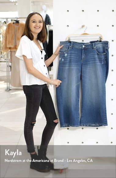 Distressed Wide Leg Capri Jeans, sales video thumbnail