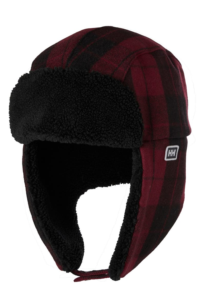 HELLY HANSEN Roam Trapper Hat, Main, color, OXBLOOD