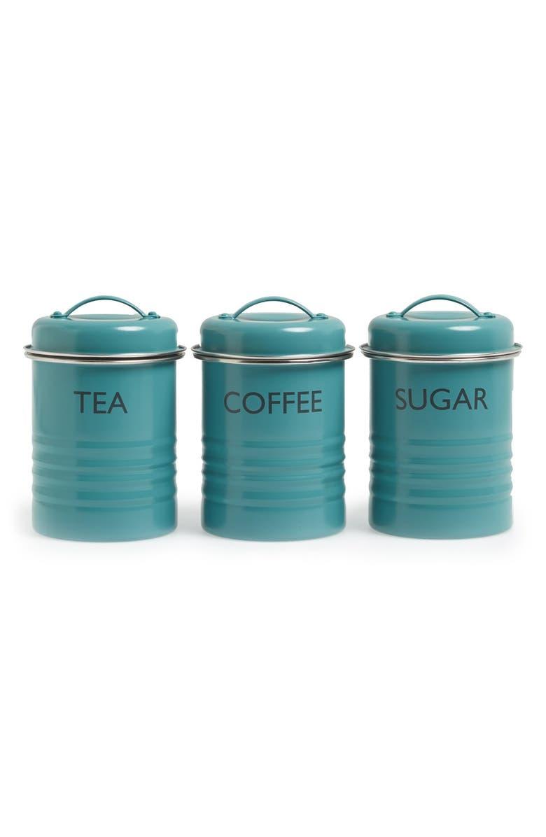 TYPHOON 'Vintage Kitchen - Summer House' Enamel Tea, Coffee & Sugar Storage Canisters, Main, color, 400