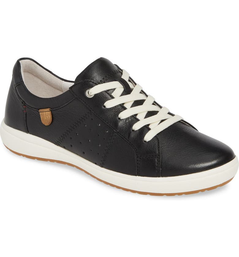 JOSEF SEIBEL Caren 01 Sneaker, Main, color, BLACK LEATHER