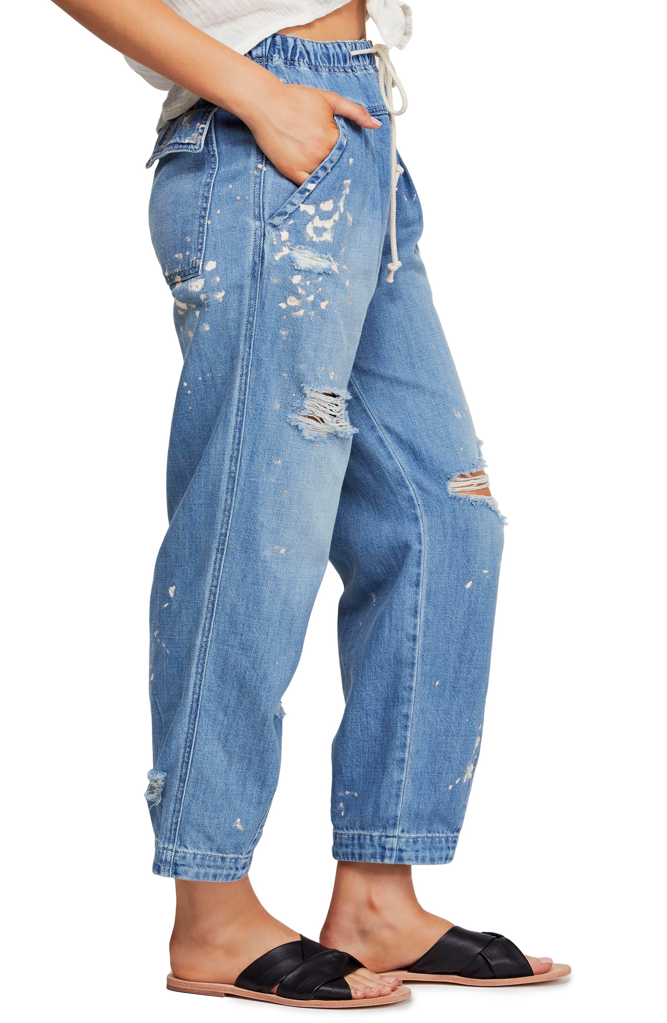 ,                             Ripped Straight Leg Jeans,                             Alternate thumbnail 3, color,                             400