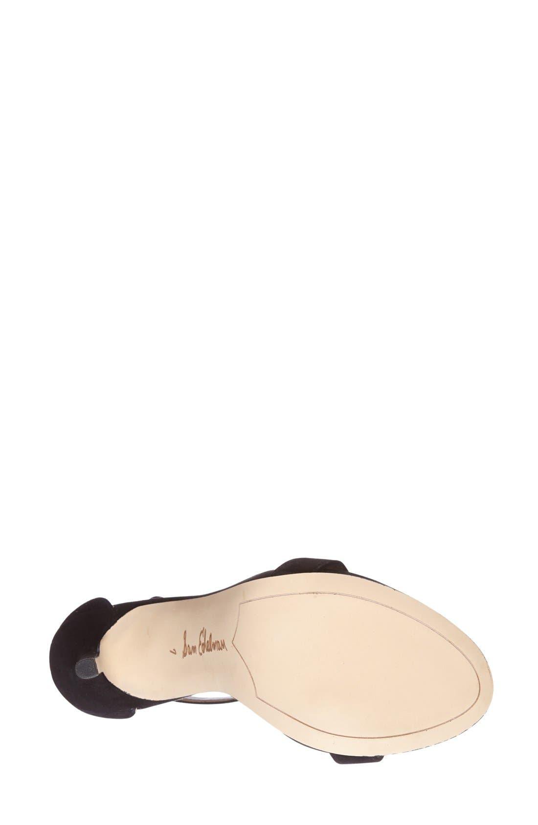 ,                             'Eleanor' Ankle Strap Sandal,                             Alternate thumbnail 21, color,                             003