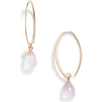 Jane Basch Designs Briolette Gemstone Hoop Earrings