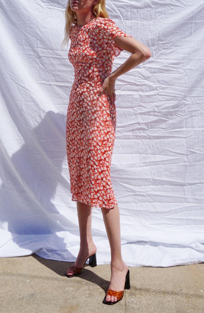 REFORMATION Andre Sheath Dress, Main, color, NINA