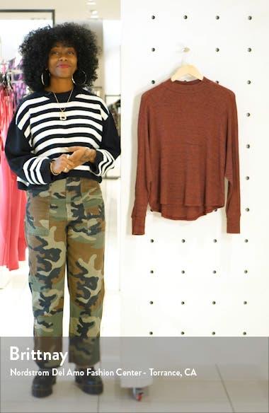 Space Dye Long Sleeve Mock Neck Sweater, sales video thumbnail