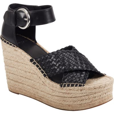 Marc Fisher Ltd Aylon Espadrille Sandal- Black
