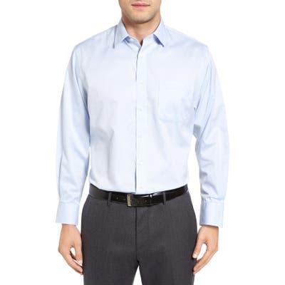 Nordstrom Shop Smartcare(TM) Traditional Fit Stripe Dress Shirt - Blue