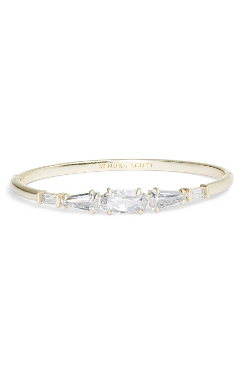 KENDRA SCOTT Ren Hinge Cuff Bracelet, Main, color, GOLD LUSTRE/ GLASS CZ