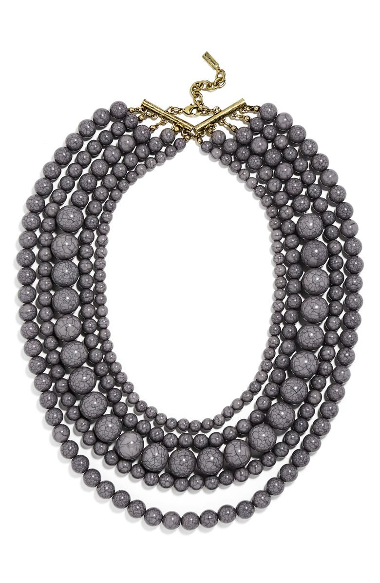 BAUBLEBAR 'Globe' Multistrand Beaded Necklace, Main, color, 021