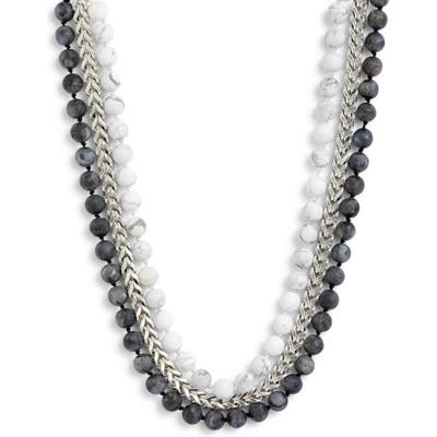 Karine Sultan Layered Bead & Curb Chain Necklace