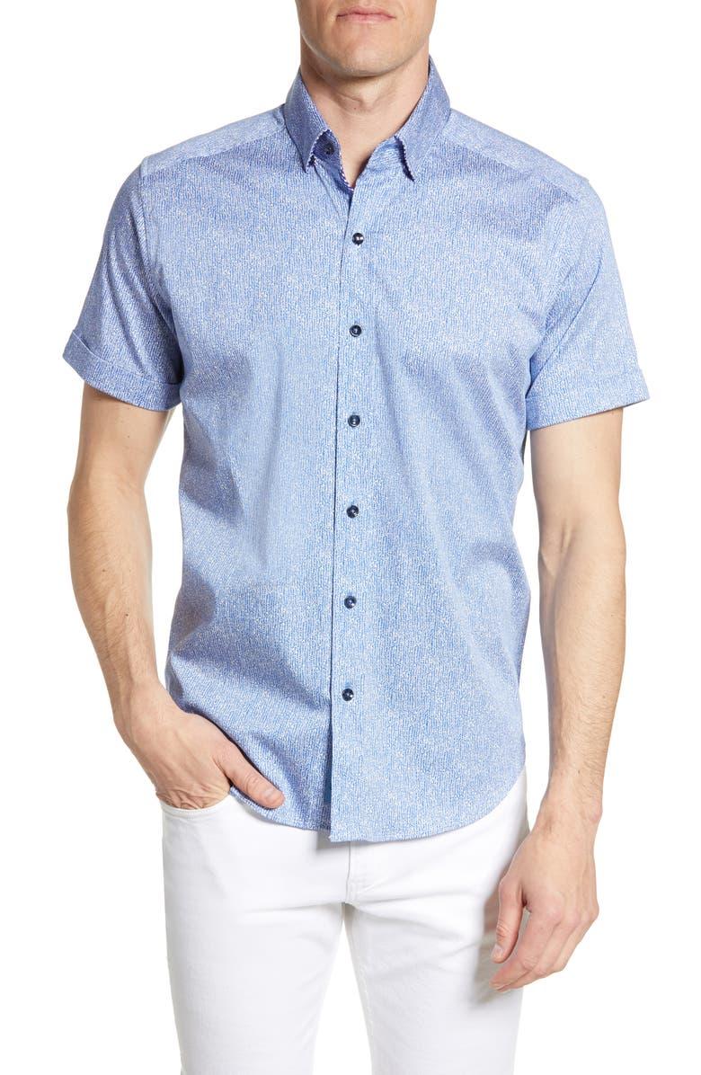 ROBERT GRAHAM Scott Regular Fit Print Sport Shirt, Main, color, 400