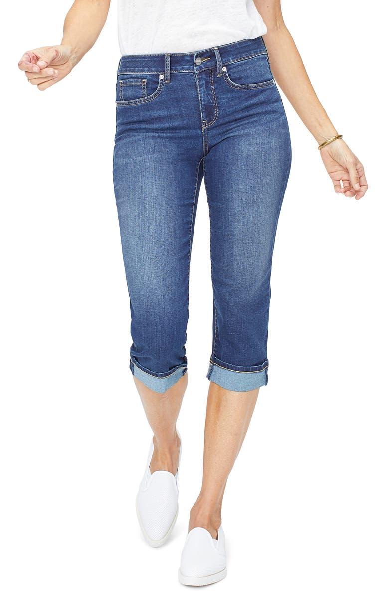 NYDJ Marilyn Straight Leg Capri Jeans, Main, color, JUNIPERO