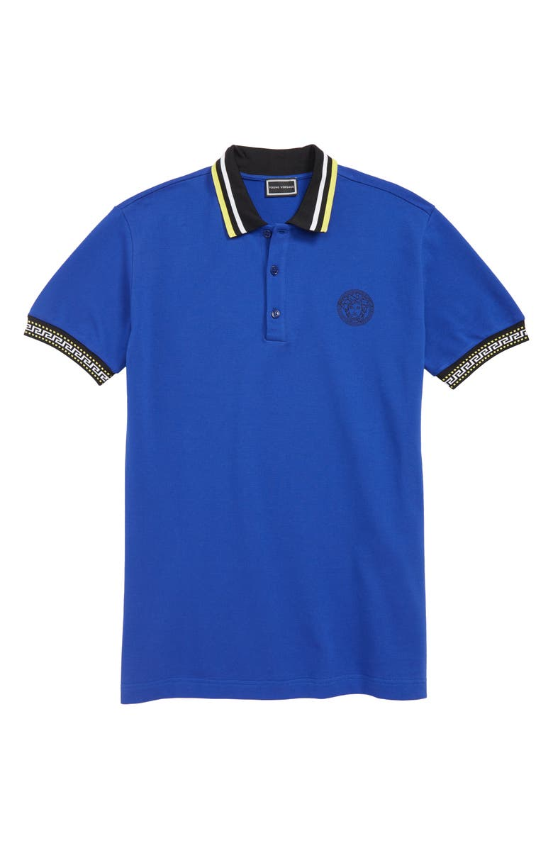 VERSACE Medusa Piqué Polo, Main, color, 400