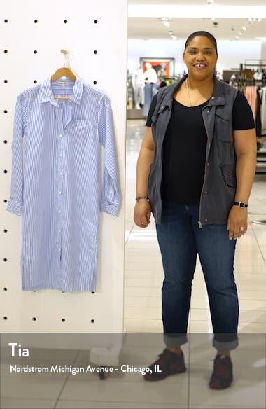 Stripe Midi Shirtdress, sales video thumbnail